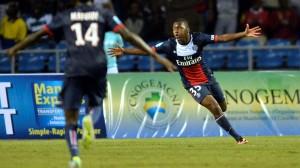 Ongenda tras marcar el gol en la Trophée des Champions pasada