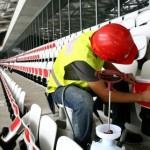 El Allianz Riviera de nuevo en obra