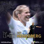 Ada Hegerberg, mejor jugadora de la UEFA