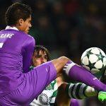 Varane, baja en el Madrid ante el Sporting