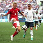 Dinamarca 0-0 Francia: Soporífero partido que manda a Francia como 1ª